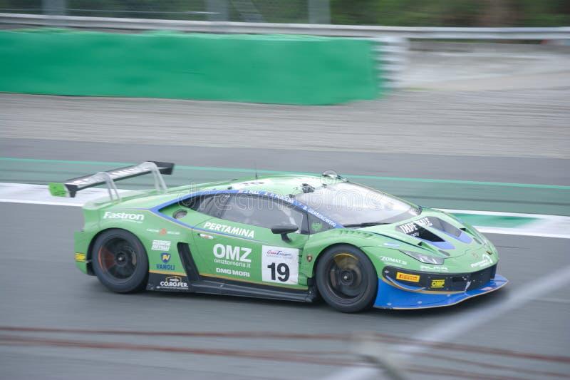 Włoszczyzna GT Lamborghini Huracan przy Monza obrazy royalty free