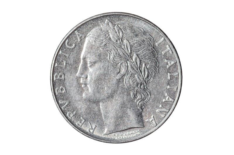 Włoszczyzna 100 lirów monet obraz royalty free