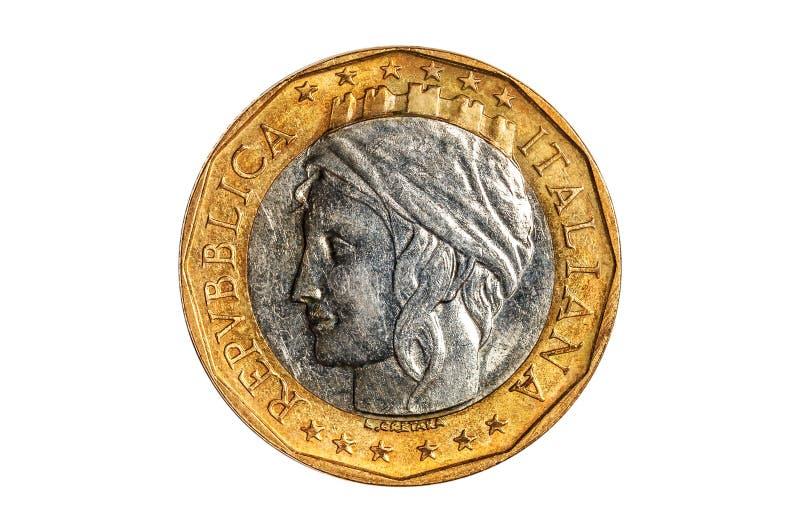 Włoszczyzna 1000 lirów monet obrazy stock