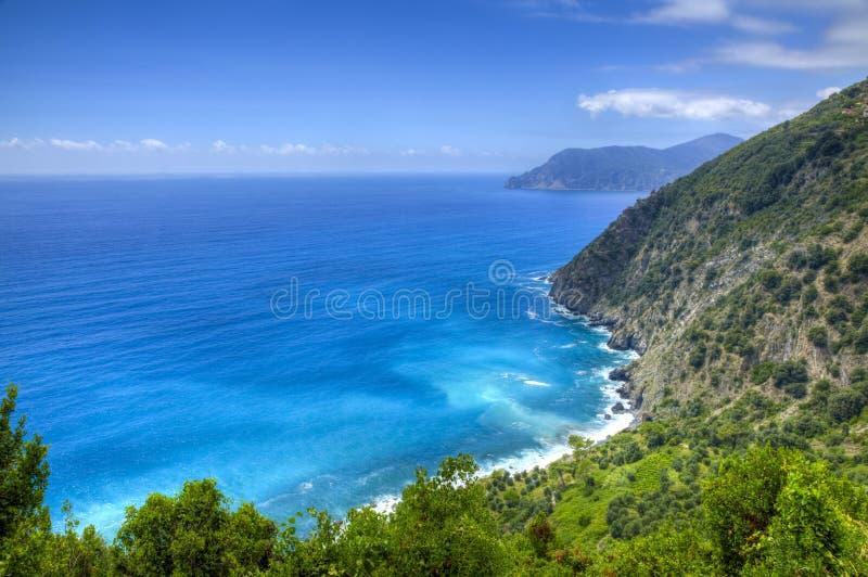 Włoszczyzna Riviera w Cinque Terre parku narodowym zdjęcia stock