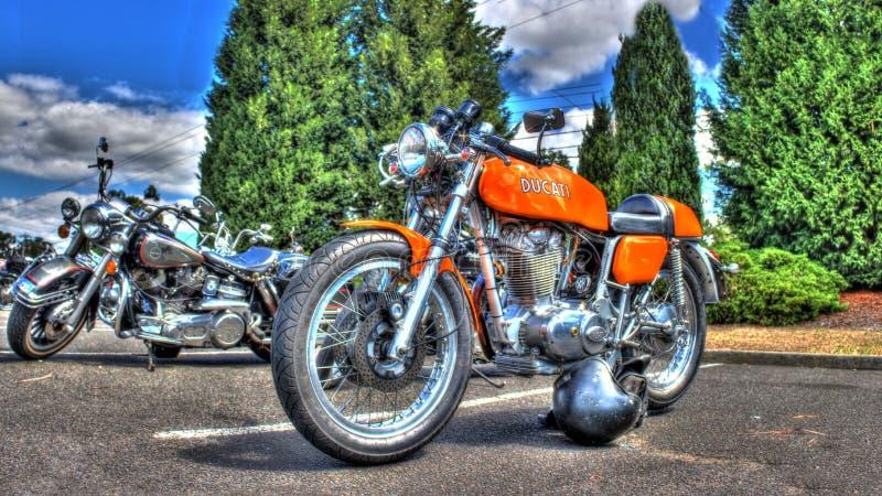 Włoszczyzny Ducati motocykl obrazy royalty free