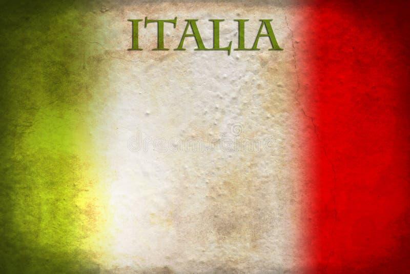 Włoszczyzny flaga zdjęcie stock