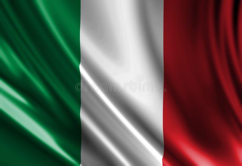 Włoszczyzny flaga ilustracji