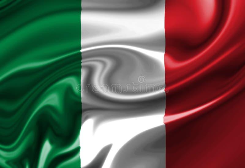 Włoszczyzny flaga royalty ilustracja