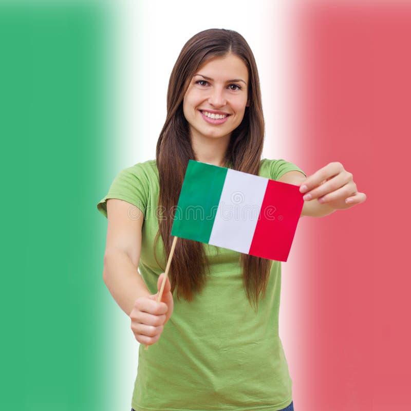 we włoszech bandery obrazy stock