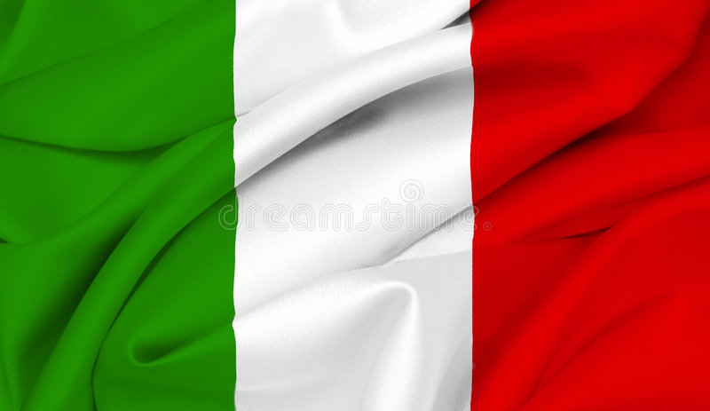 we włoszech bandery Włoch obrazy royalty free