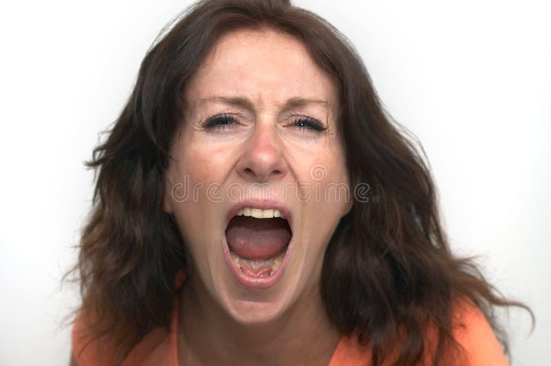 wściekła kobieta obraz stock