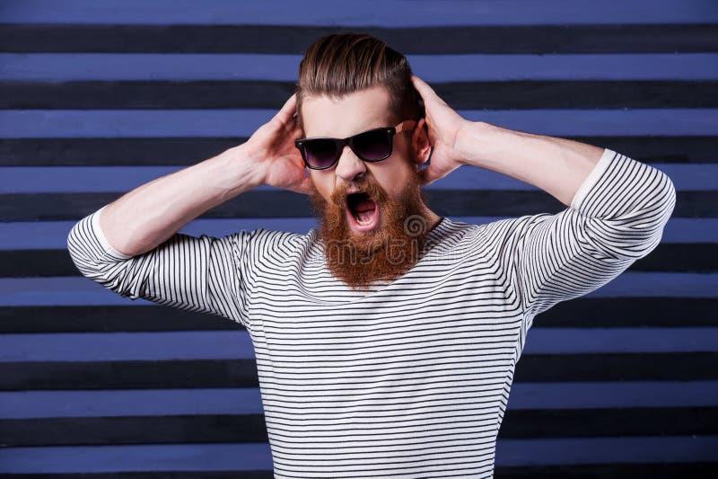 Wściekły brodaty zdjęcie stock