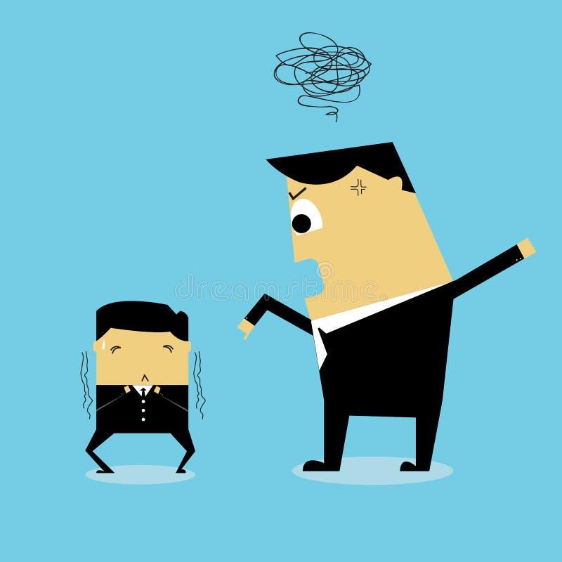 wściekły businessman ilustracji