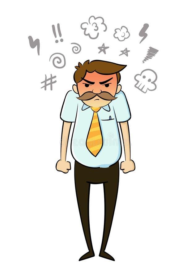 wściekły businessman royalty ilustracja