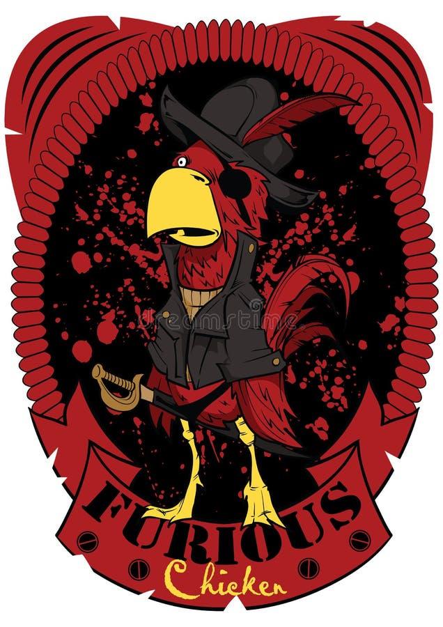 Wściekły kurczak royalty ilustracja