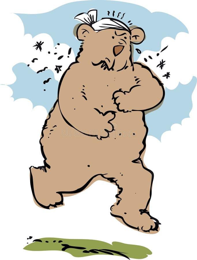 wściekły niedźwiedź ilustracja wektor