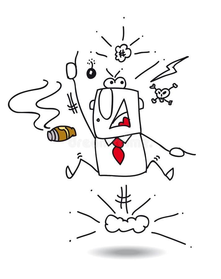 wściekły szef ilustracja wektor
