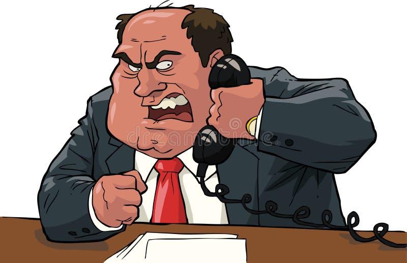 wściekły szef ilustracji