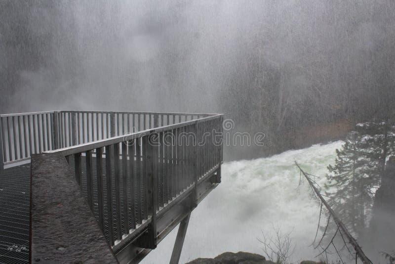 Wściekać się wody przy łosiem Spada Campbell rzeka BC obrazy royalty free