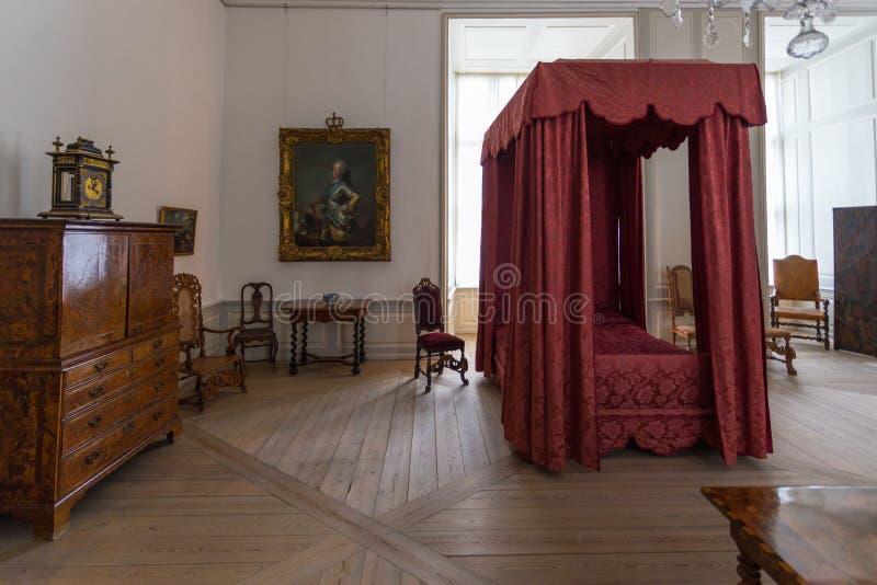 Wśliznąć pokój w Kronborg pałac w Helsingor, Dani zdjęcia stock