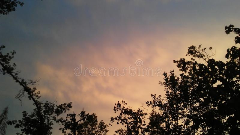 Wśród chmur obraz stock