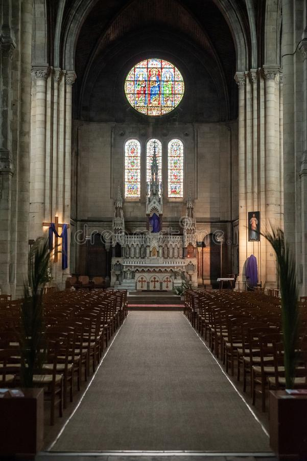 Wśrodku Świątobliwego Ferdinand kościół obraz royalty free