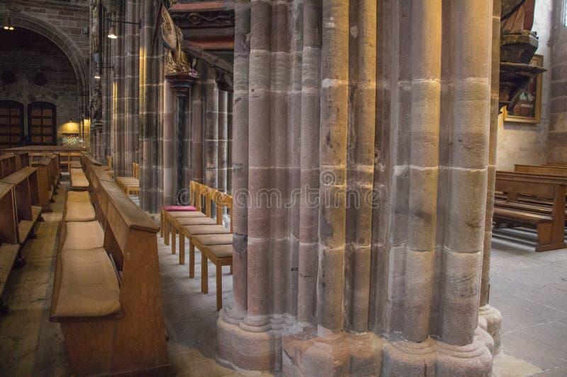 Wśrodku Świątobliwego Lorenz kościół pielęgniarka Niemcy zdjęcie stock