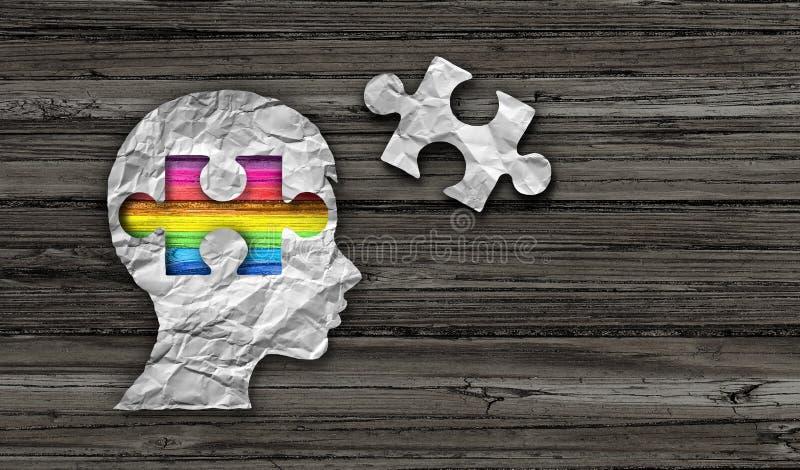 Wśrodku autyzmu I Asperger syndromu royalty ilustracja