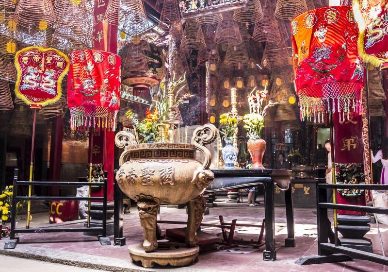 Wśrodku chińskiej świątyni obrazy royalty free