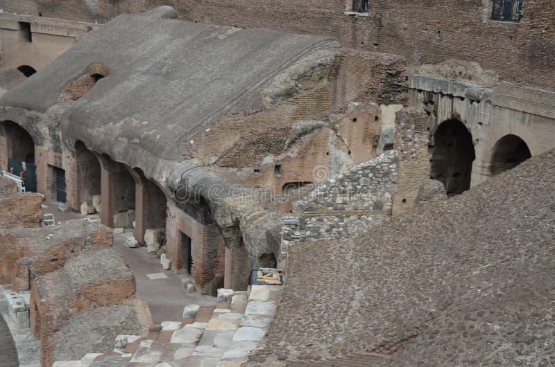 Wśrodku Colosseum, Roma, Włochy obraz stock