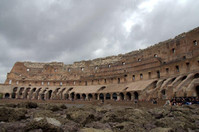 Wśrodku Colosseum w Rzym, Włochy obraz stock
