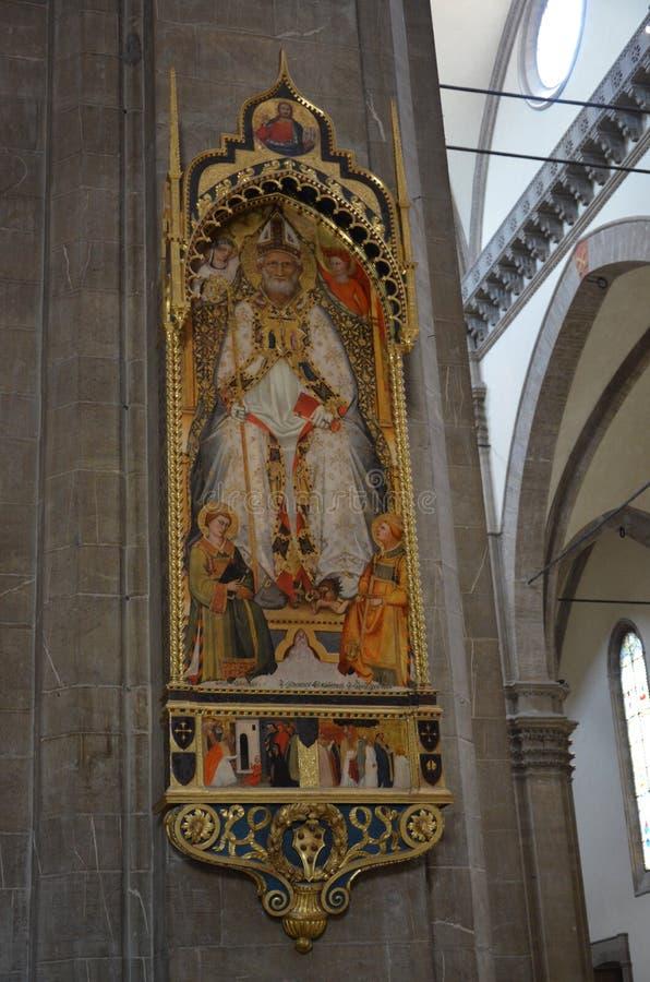 Wśrodku Duomo w Florencja katedrze Santa Maria Del Fiore obrazy stock