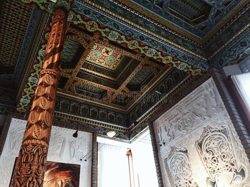 Wśrodku Dushanbe Teahouse w głazie, Kolorado fotografia stock