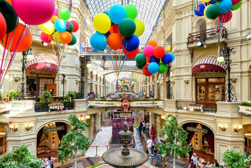 Wśrodku dziąsła w Moskwa (główny wydziałowy sklep) zdjęcia royalty free