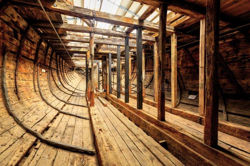 Wśrodku ` Edwin Fox ` hulk 1850s handlowy statek zdjęcia royalty free