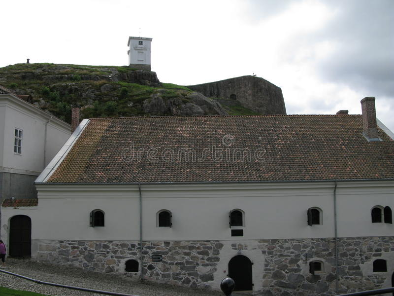 Wśrodku Fredriksten fortecy w Halden, Norwegia obraz royalty free