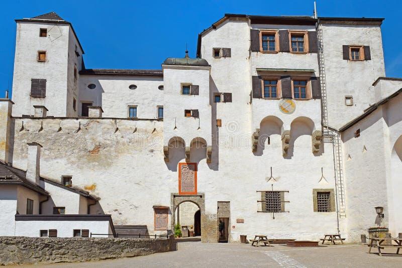 Wśrodku Hohensalzburg fortecy, Salzburg, Austria fotografia royalty free