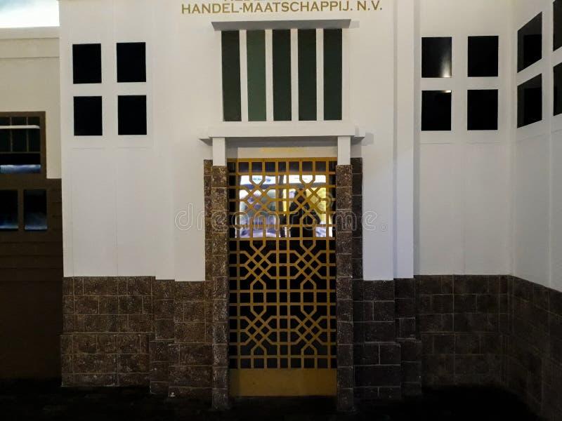 Wśrodku jeden pokoje Mandiri muzea w Dżakarta, Mandiri muzeum otwierał zdjęcie stock