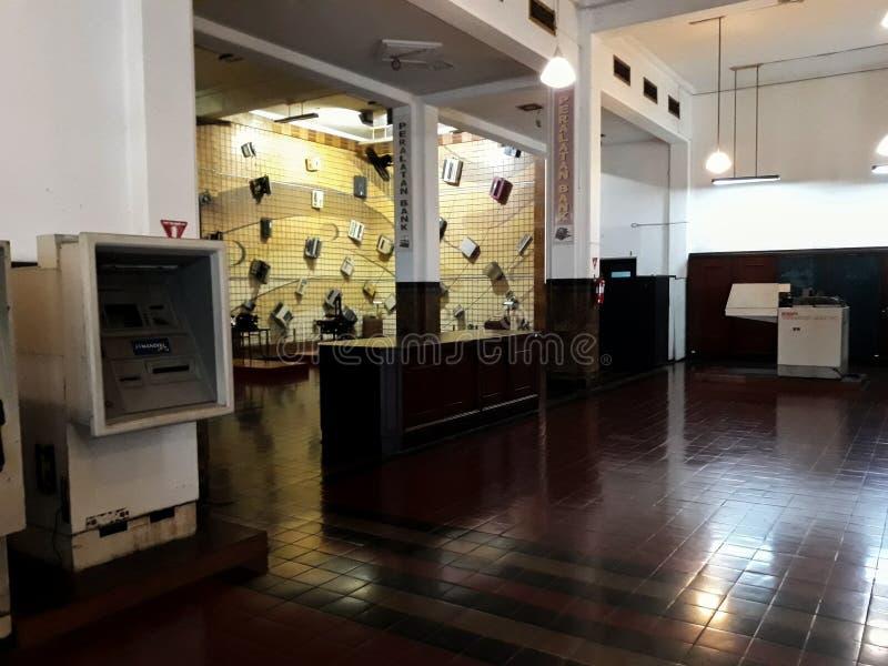 Wśrodku jeden pokoje Mandiri muzea w Dżakarta, Mandiri muzeum otwierał fotografia royalty free