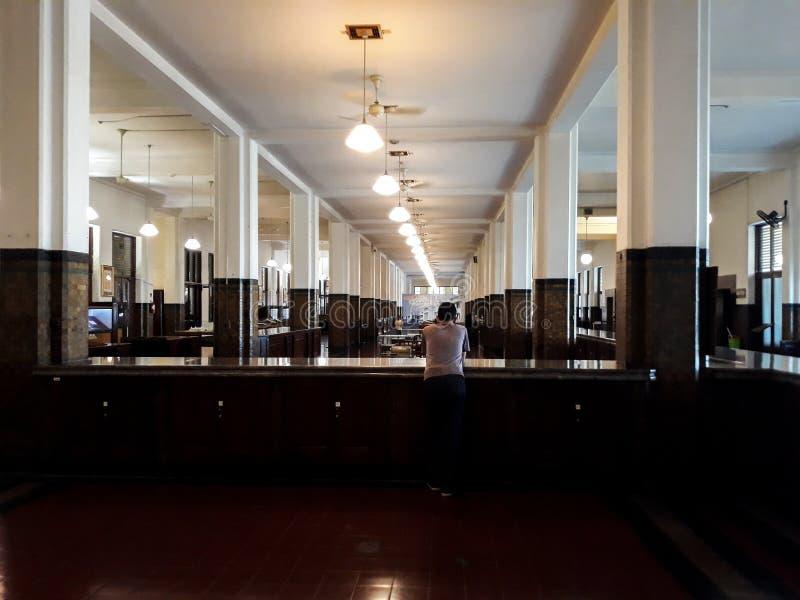 Wśrodku jeden pokoje Mandiri muzea w Dżakarta, Mandiri muzeum otwierał obrazy stock