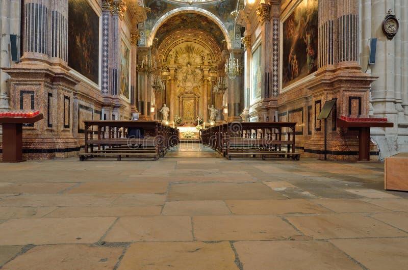 Wśrodku katedralnego inTortosa zdjęcia stock