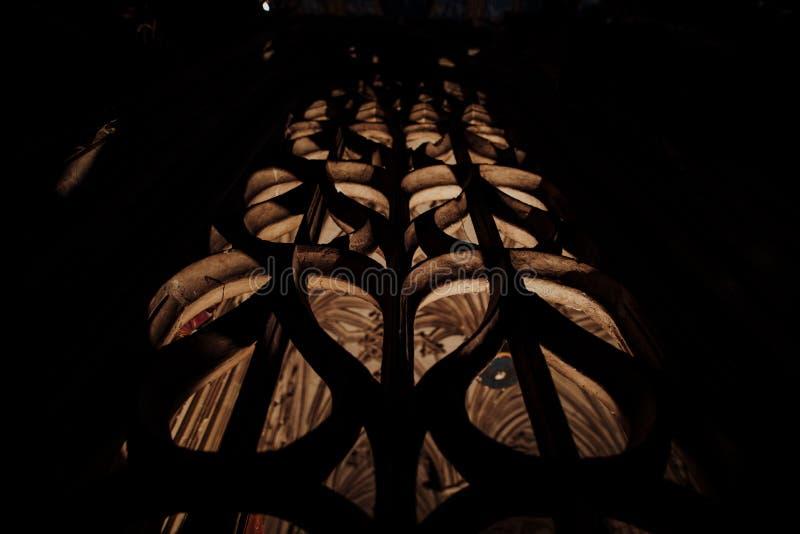 Wśrodku katedry Albi obrazy royalty free