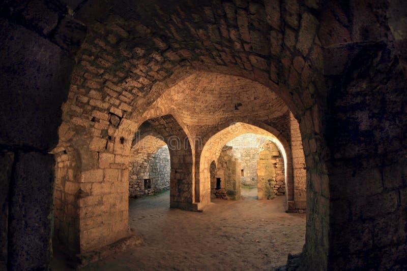 Wśrodku Khan skąpań w Sassanid Forteczny Naryn-Kala w Derbent mieście, republika Dagestan fotografia royalty free