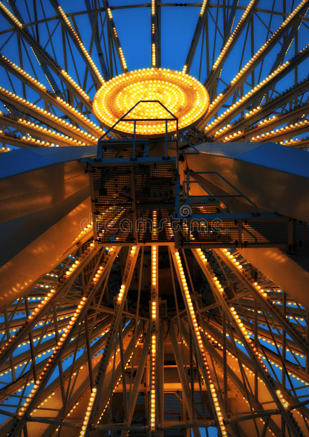 Wśrodku koło marynarki wojennej mola Chicago zdjęcia royalty free