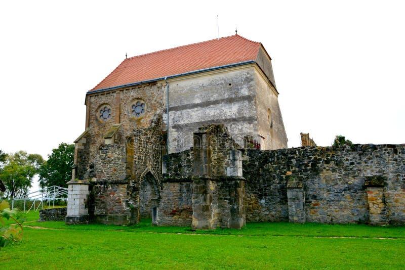Wśrodku kościół Carta średniowieczny monaster blisko Sibiu, Transilvania fotografia royalty free
