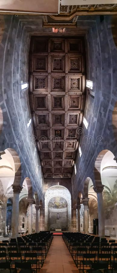 Wśrodku kościół SS Giovanni e Reparata zdjęcia royalty free