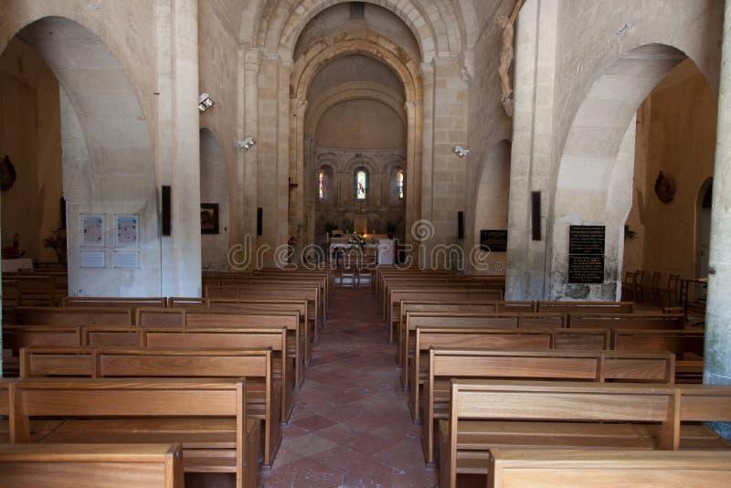 Wśrodku kościelne ławki i krypty zdjęcie royalty free