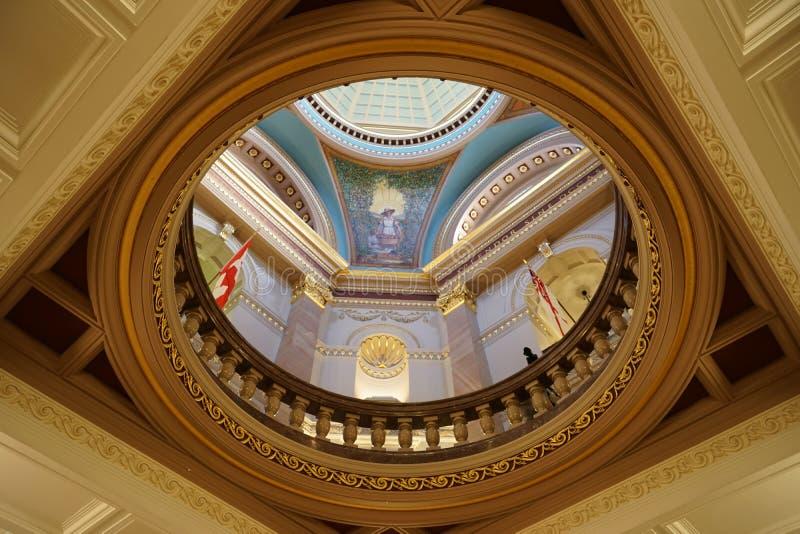 Wśrodku kolumbiego brytyjska Prawodawczego budynku w Wiktoria, Britis zdjęcie royalty free