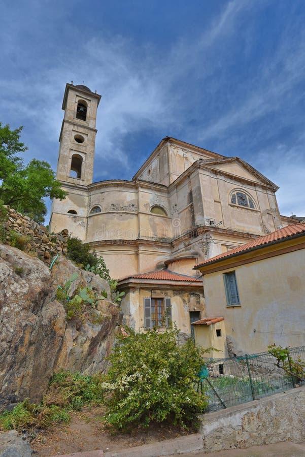 Wśrodku Korsykańskiego miasteczka zdjęcie stock