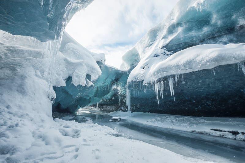 Wśrodku lodowa zdjęcie stock