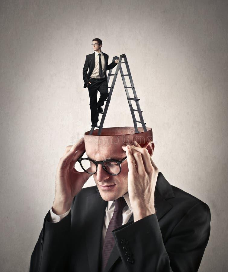 Wśrodku mężczyzna umysłu zdjęcie stock