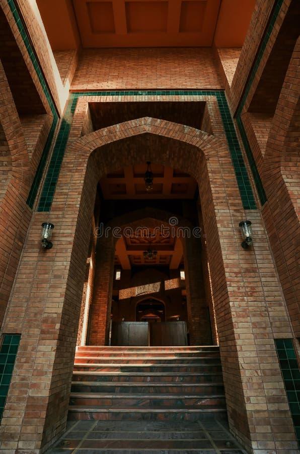Wśrodku meczetu zdjęcie royalty free
