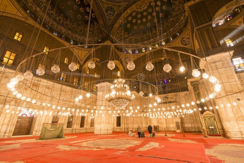 Wśrodku meczetu Muhammad Ali, Saladin cytadela Kair obrazy stock