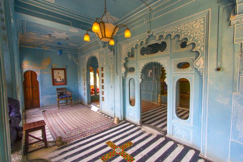 Wśrodku miasto pałac w Udaipur obraz stock